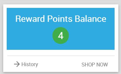 Reward Points Balance Widget