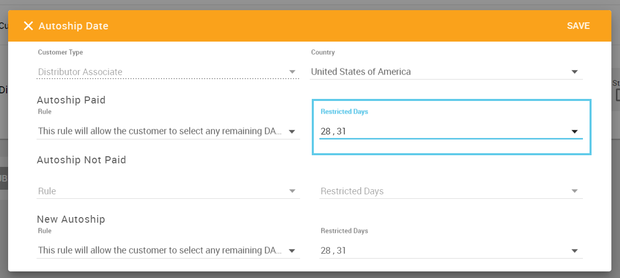 Restricted Date in Web Office Admin