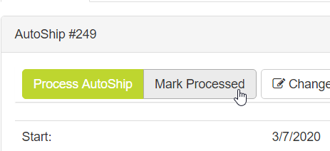 Mark Processed button