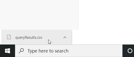 Exported .CSV file