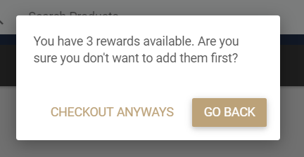 Coupon Confirmation pop-up
