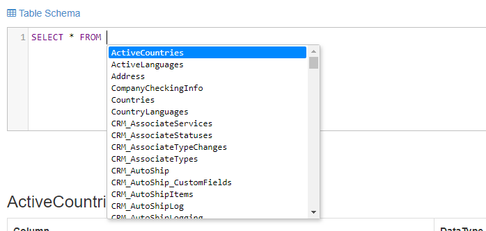 Press CTRL+SPACE on your keyboard to enable the SQL Type Ahead feature.