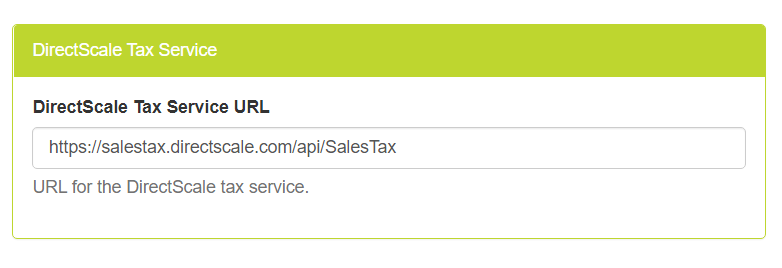 DirectScale Tax Service section