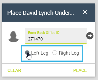 Select a Leg