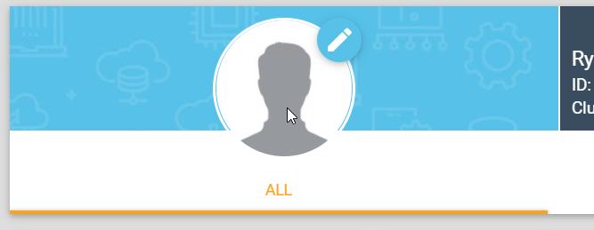 Hover over profile image