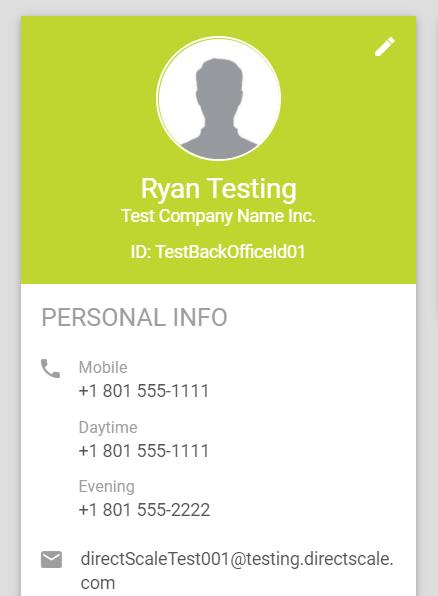 Personal Info widget