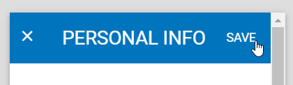 Save the Personal Info widget settings