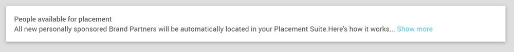 Placement Suite default instructions