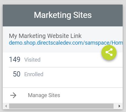 Home > Marketing Sites widget
