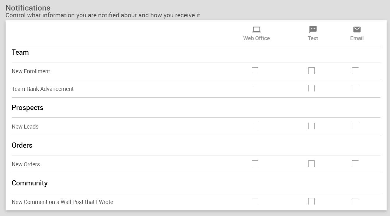 Settings > Communication > Notification Widget