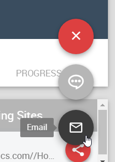 Email option in Team Dashboard