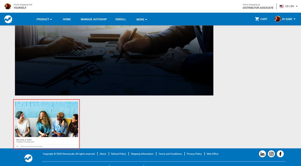 eCommerce Shop Homepage