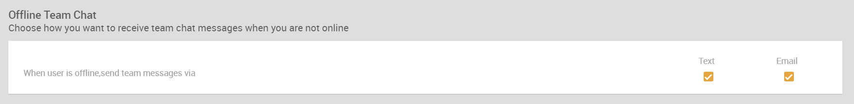 Offline Team Chat