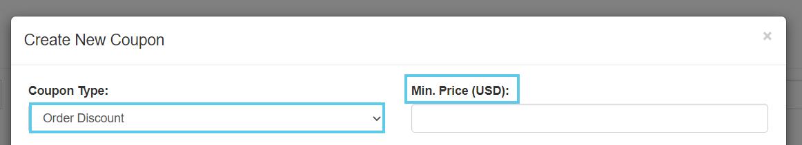 Price (USD) field