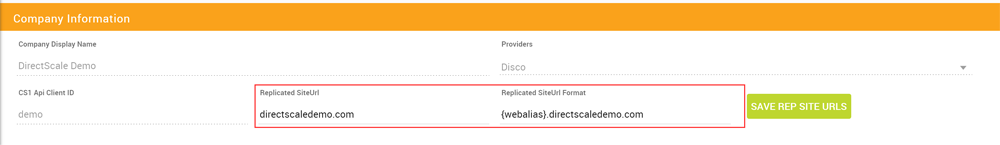 Customizing Replicated Site URLs