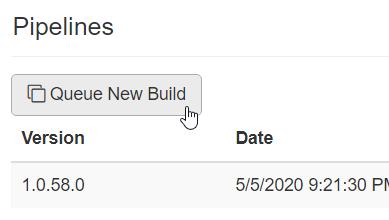Queue New Build button