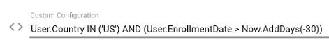 Custom Configuration example