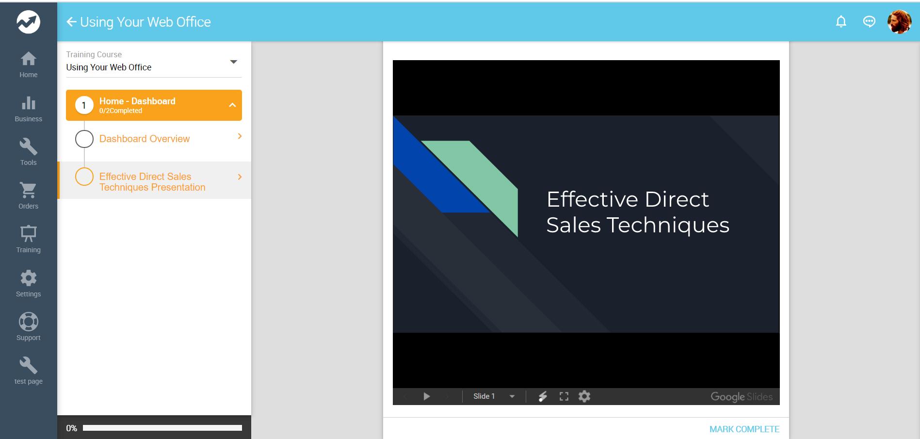 Web Office Training Course Slide