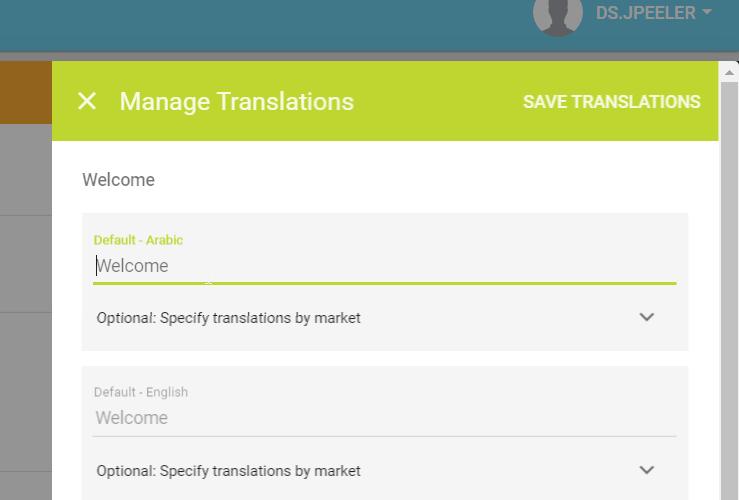 Manage Translations module