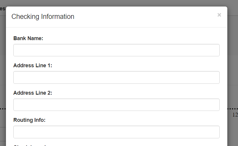 Checking Information pop-up window