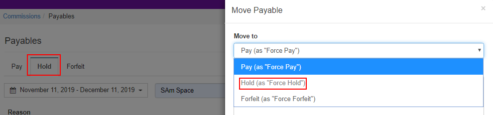 Move to: Hold