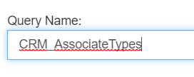 Query Name text field