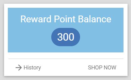 Home -> Reward Points widget
