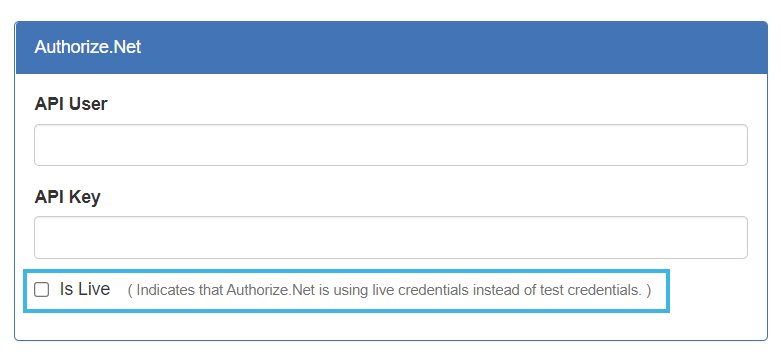 Is Live checkbox example