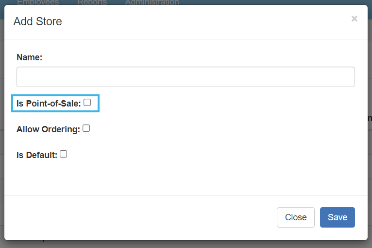 Is Point-of-Sale setting