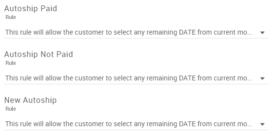 Updated Rule dropdowns