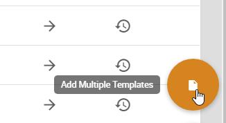 Add Multiple Templates button