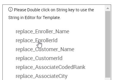 String Key menu