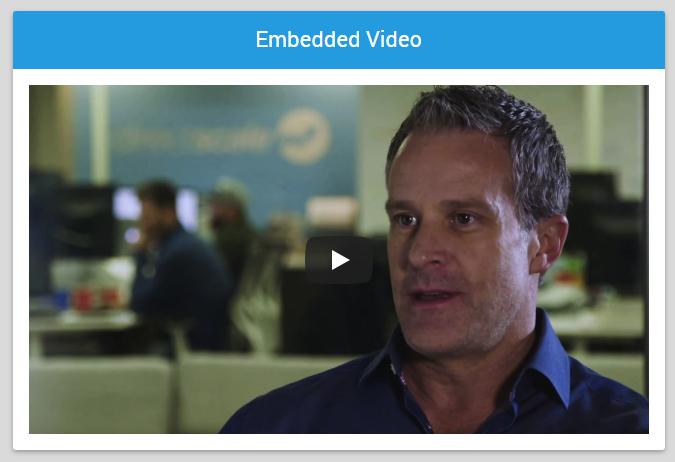 Embedded Video Widget example