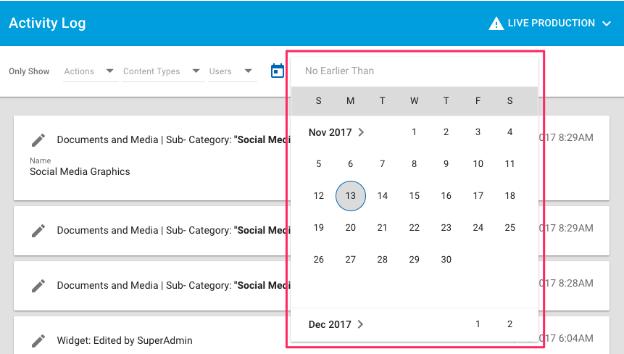 Date Restrictions calendar