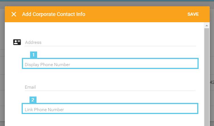 Display Phone Number vs. Link Phone Number