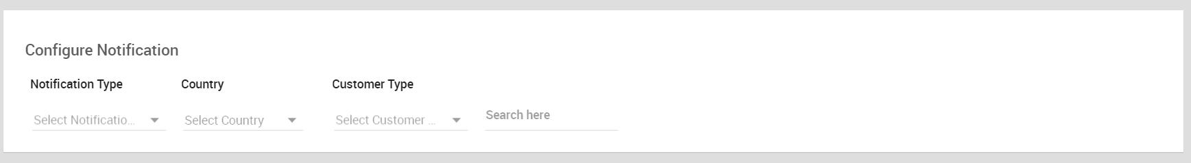 Configure Notification section